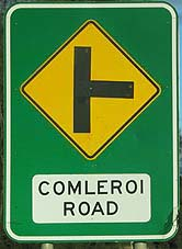 Comleroi Road sign